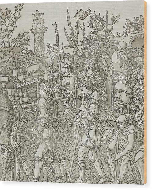 Triumph Of Caesar Wood Print