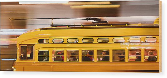 Trolley 1052 On The Move Wood Print