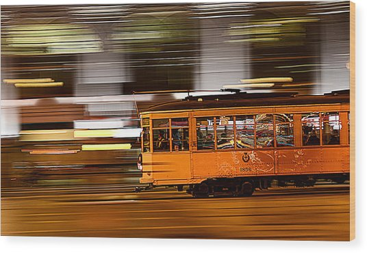 Trolley 1856 On The Move Wood Print