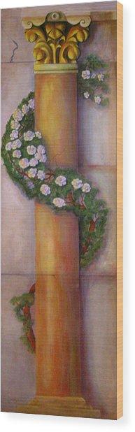 Trompe L'oeil  Column Wood Print