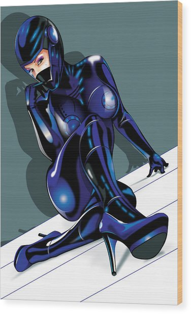 Tron Girl Wood Print