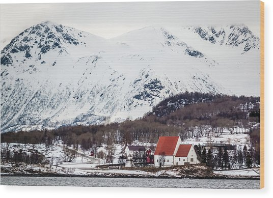 Trondenes Church Harstad Norway Wood Print