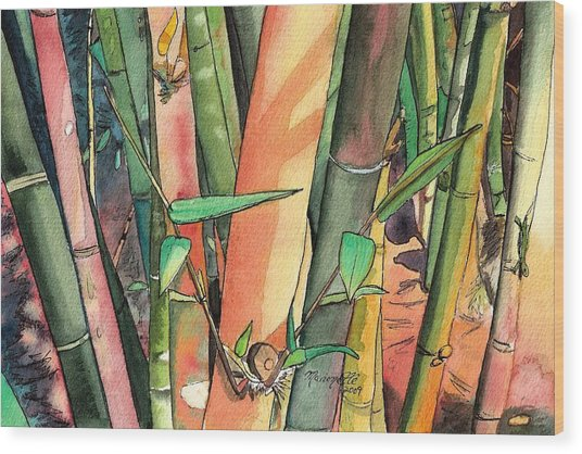Tropical Bamboo Wood Print