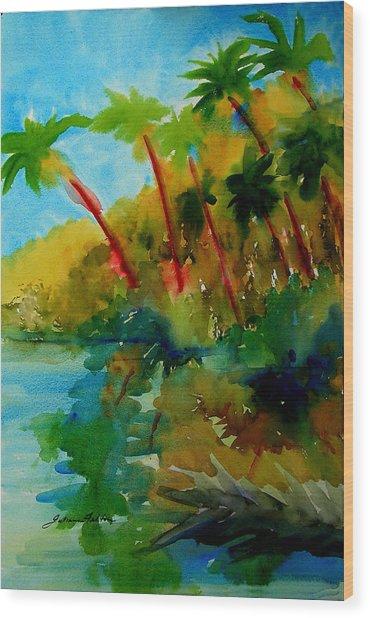 Tropical Canal Wood Print