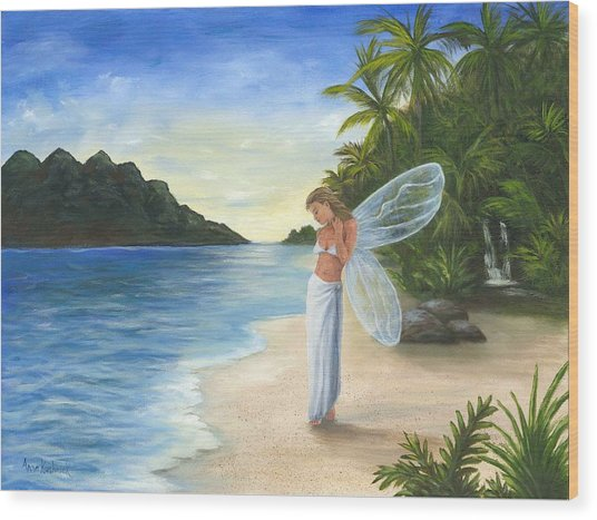Tropical Fairy Wood Print