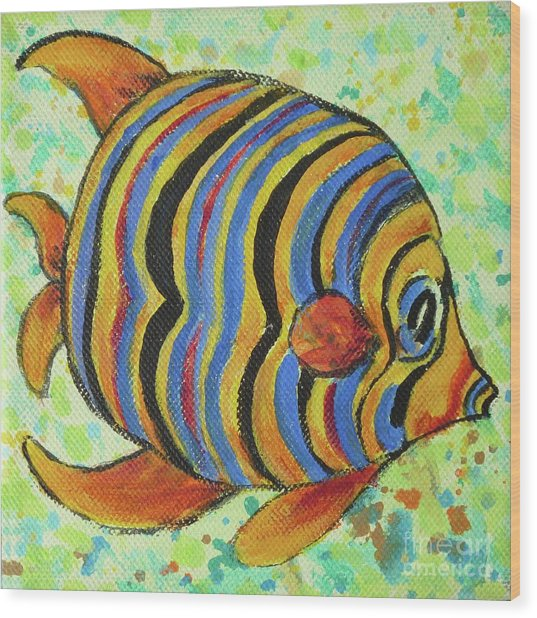 Tropical Fish Series 4 Of 4 Wood Print
