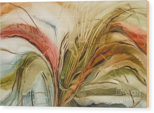 Tropical Forest Wood Print by Fatima Stamato