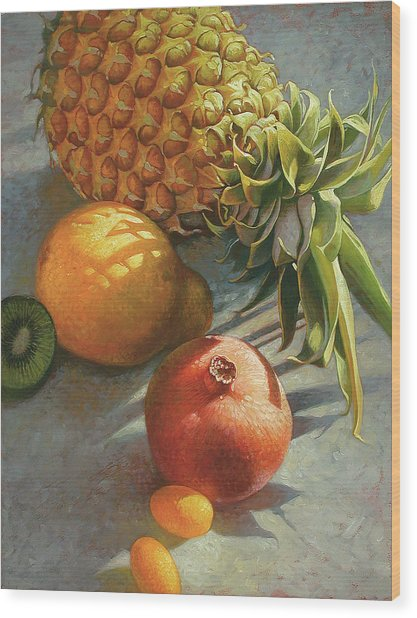 tropical Fruit Large Wood Print