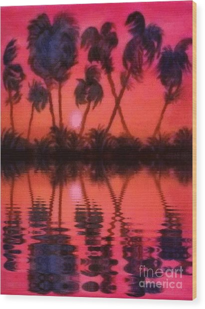 Tropical Heat Wave Wood Print