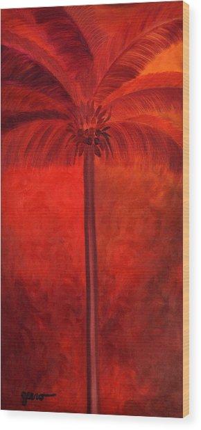 Tropical Mango Palms Wood Print by Helen Gerro