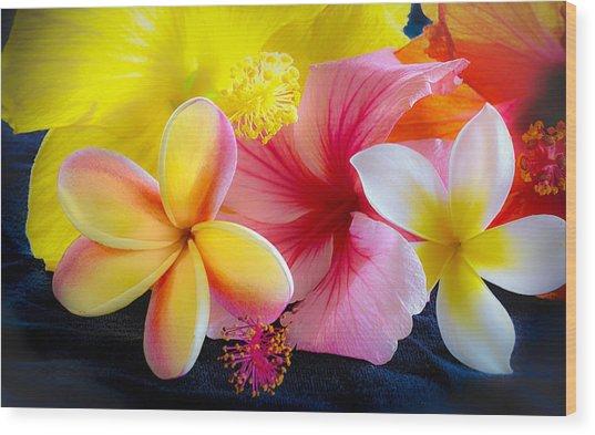 Tropical Melange Wood Print