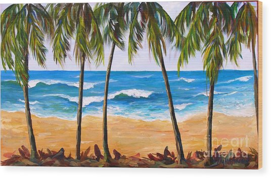 Tropical Palms 2 Wood Print