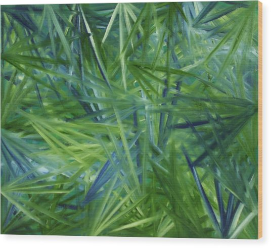 Tropical Point Of View Wood Print by Karen Rester