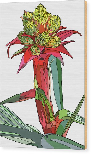 Tropical Reds Wood Print