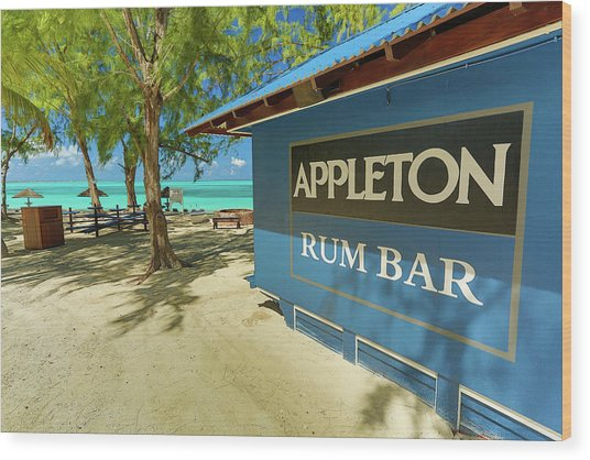 Tropical Rum Bar Wood Print