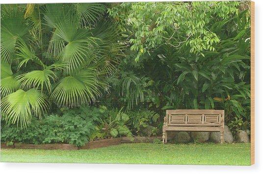 Tropical Seat Wood Print