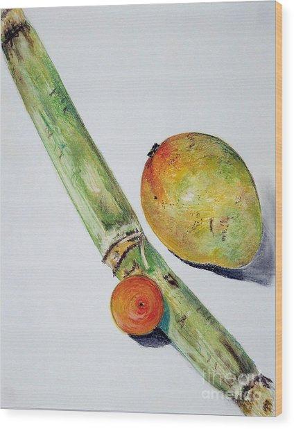 Tropical Trio Wood Print
