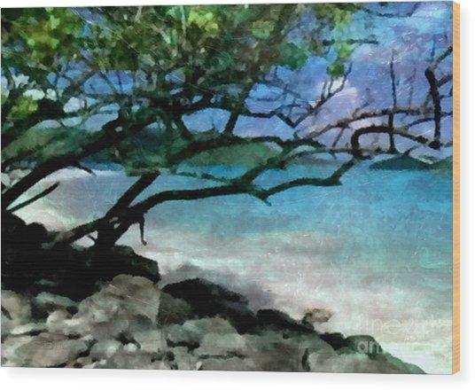 Tropical Utopia  Wood Print