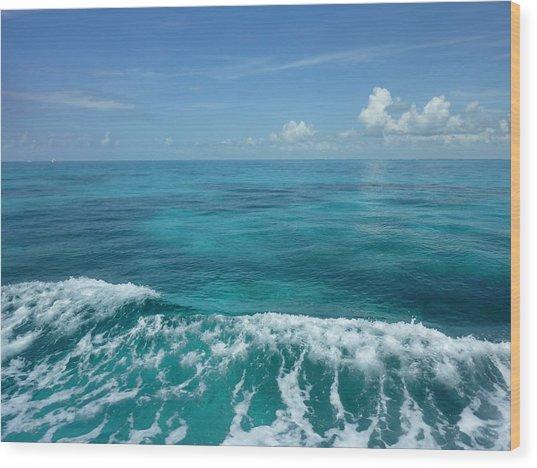 Tropical Waves Wood Print