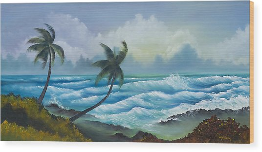 Tropical Wind Wood Print by George Bloise
