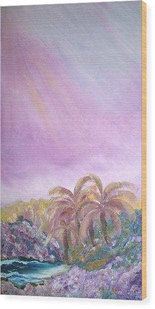 Tropics Wood Print by Ellen Young