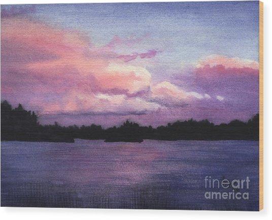 Trout Lake Sunset I Wood Print