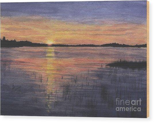 Trout Lake Sunset II Wood Print