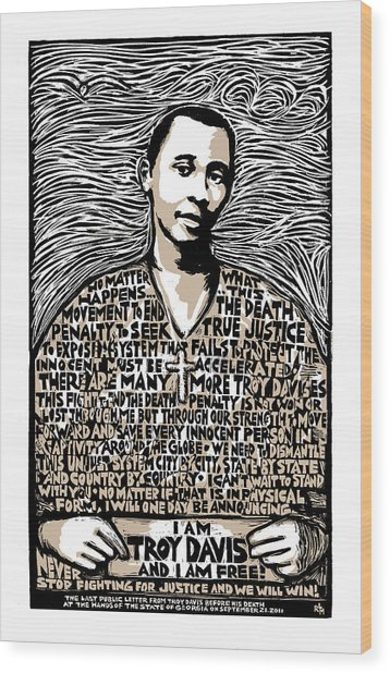 Troy Davis Wood Print