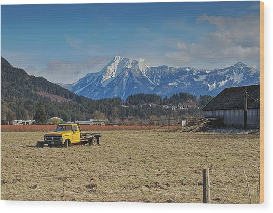Truck In Harison Mills Wood Print