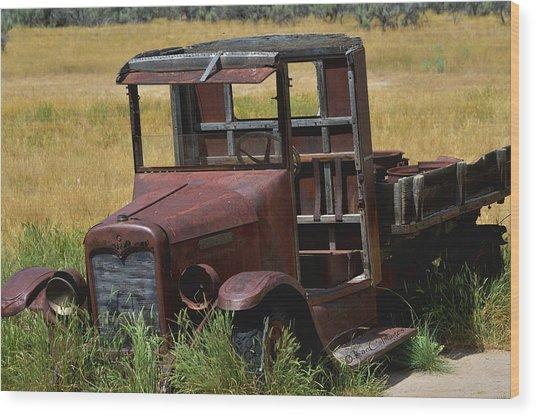 Truck Long Gone Wood Print