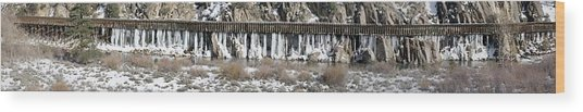 Truckee River Flumes Wood Print by Edward Hass