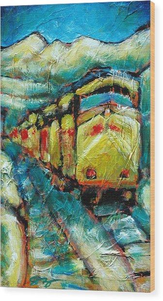 Truckee Train 2 Wood Print by Sara Zimmerman