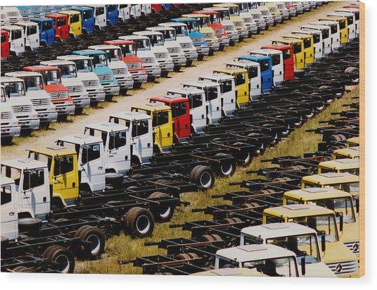 Trucks Wood Print by Amarildo Correa