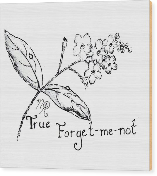 True Forget-me-not Wood Print