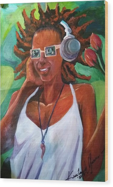 True Jamaican Rhythm Wood Print by Kirkland  Clarke