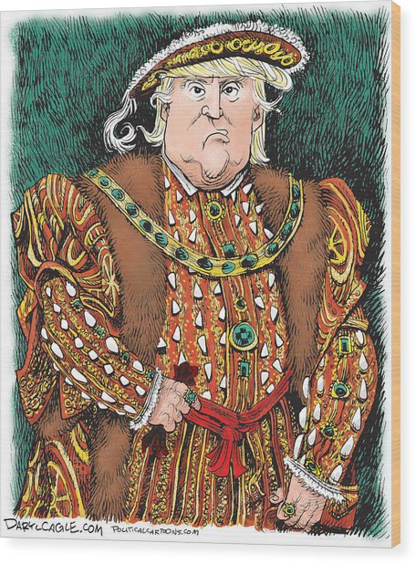 Trump As King Henry Viii Wood Print