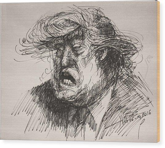 Trump Harmful Ignorant Wood Print