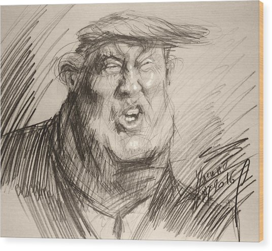Trump-the Womanizer For President Wood Print