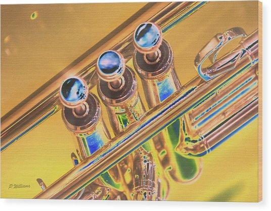 Trumpet Keys Wood Print