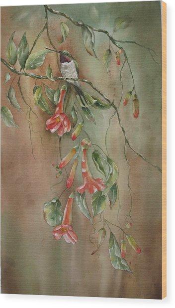 Trumpet Nectar Wood Print