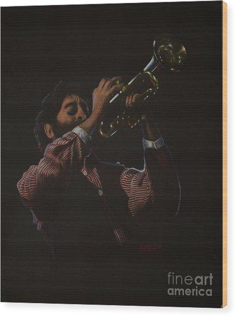 Trumpeteer Wood Print