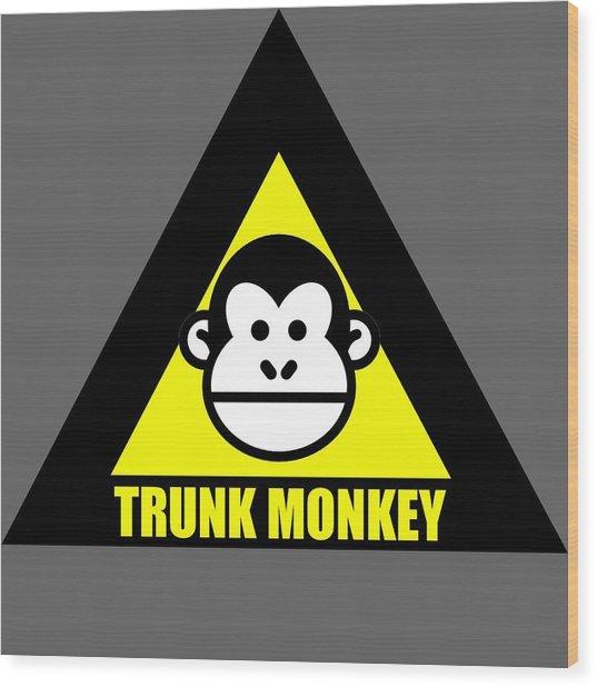 Trunk Monkey Wood Print