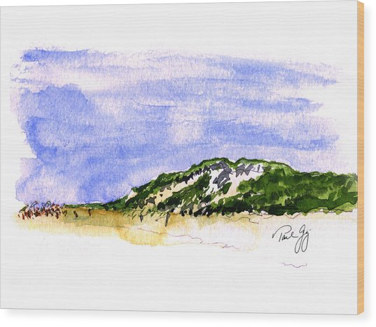 Truro Beach Cape Cod Wood Print