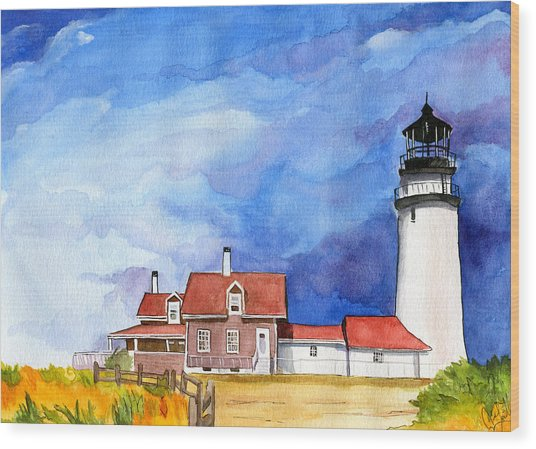 Truro Lighthouse Wood Print