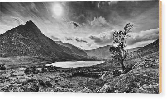 Tryfan And Llyn Ogwen Wood Print