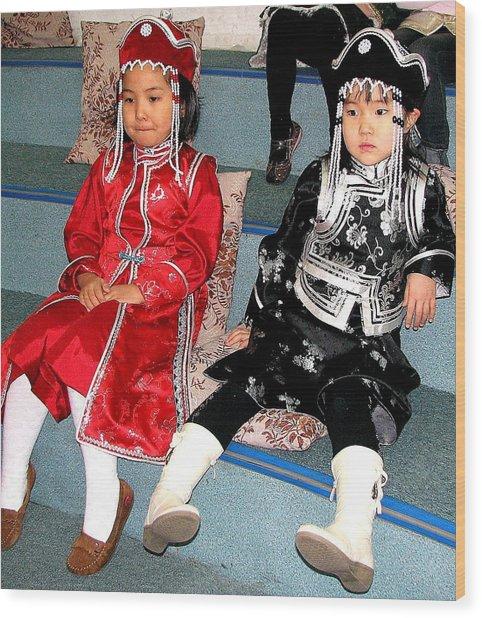 Tsagaan Sar Girls Wood Print