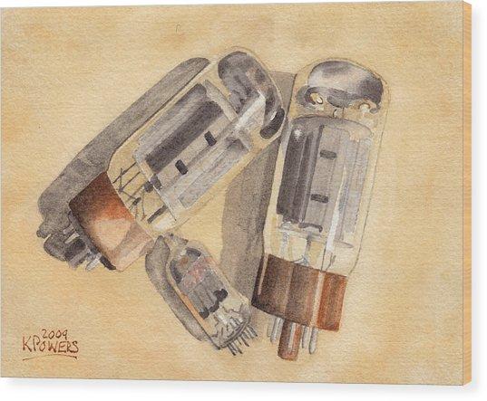 Tubes Wood Print