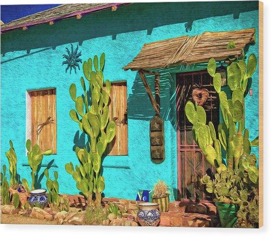 Tucson Blue Wood Print