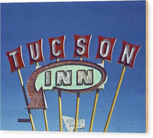Tucson Inn Wood Print