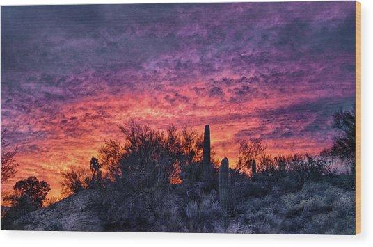 Tucson Sunrise Wood Print